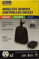 SMART ELECTRICIAN  Indoor Outdoor Remote Control 2 Outlet Receiver NEW
