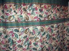 * GREEN and BURGUNDY SPLASH fabric shower curtain Leaves