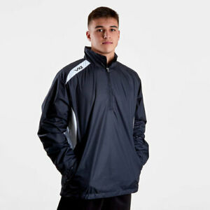 VX3 Mens Team Tech Half Zip Training Jacket Black/White Sizes 3XL & 2XL BNWT