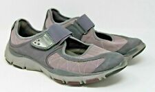 Clarks Size 8.5 M Privo Purple & Gray Stretch Strap Mary Jane Comfort Shoes