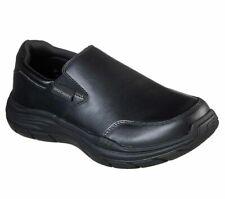 Slip On Skechers Black Shoes Men Memory Foam Comfort Casual Leather Loafer 66416