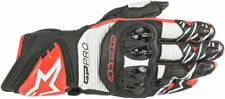 Alpinestars GP PRO R3 Leather Road Racing Gloves (Black/White/Bright Red) 2XL