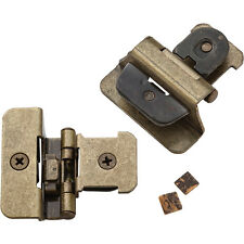 "1/4"" Overlay, Burnished Brass Double Demountable Hinges"