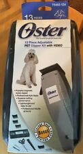 NEW * OSTER #75482-124 13 Piece Adjustable Pet Clipper Kit With Video *