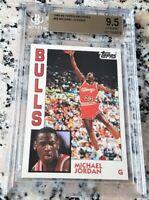 MICHAEL JORDAN 1984 Topps GLOSSY Rookie Card RC BGS 9.5 GEM MINT 1993 Bulls $$$