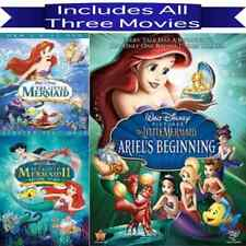 Disney's The Little Mermaid 1 2 3 Trilogy Dvd Set Ariel's Beginning All 3 Movies