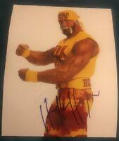 HULK HOGAN SIGNED 8X10 PHOTO HULKSTER WWE WWF W/COA+PROOF RARE WOW
