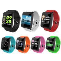 Smart Watch Bluetooth Waterproof Heart Rate Monitor Pedometer Fitness Tracker