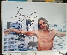 New ListingIggy Pop Hand Signed in Person! A Early 8x10 Autographed Photo! L@K!
