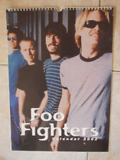 CALENDARIO OFFICIAL CALENDAR FOO FIGHTERS 2002 Vintage Poster Photo Dave Grohl
