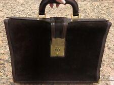 GUCCI 1970's Brown Suede Briefcase Attache