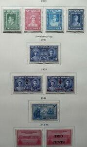Newfoundland Scott #245-252, 267-268, Mint Original Gum (HR-LH-NH)