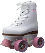 Chicago Girls Rink Roller Skate - White Youth Quad Skates - Size 3
