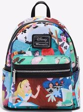Disney Alice in Wonderland Mary Blair Mini Backpack Loungefly New with Tags