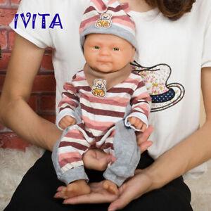 14'' Full Body Silicone Reborn Doll Lifelike Rebirth Baby Boy Xmas Gift 1800g