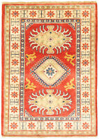 "Hand-knotted Carpet 2'8"" x 3'10"" Finest Gazni Traditional Wool Rug"