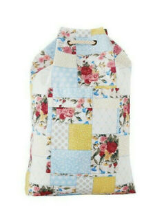 The Pioneer Woman Sweet Rose Patchwork Drawstring Canvas Laundry Bag