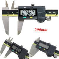 "200mm 8"" Digital Vernier Caliper Electronic Micrometer Stainless Steel"