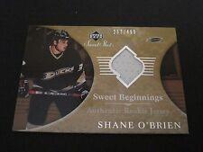 NHL 2006-07 SWEET SHOT ROOKIE JERSEY CARD - SHANE O'BRIEN DUCKS