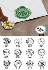 Personalised Initials Letters Wedding Wax Seal Stamp Invitations Vintage Retro