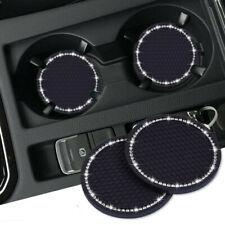 2x Universal Car Bling Cup Holder Insert Rhinestone Coaster Interior Accessories
