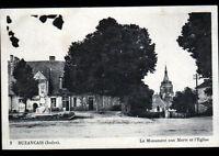 BUZANCAIS (36) MONUMENT aux MORTS , MAIRIE & EGLISE en 1940