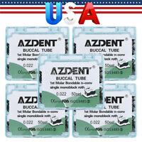 "Orthodontic Bondable Buccal Tube Roth 0.022"" Single Tube For 1st Molar AZDENT US"
