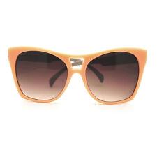 Trendy Large Coverage Oversized Cat Eye Sunglasses - Peach