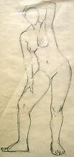 Maria Hassenpflug 1915-2010 München / Zeichnung weiblicher Akt von Vorne 1935-40