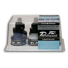 Daler Rowney FW Pearlescent Effect 6 x 29.5ml Colours Set Liquid Acrylic