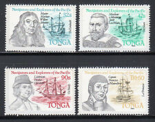 1985 Tonga SC 593-596, MNH Mint Never Hinged Set of 4 - Ships & Famous Mariners*