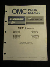 1987 Evinrude Johnson 100 HP Commercial Outboard Parts Catalog Manual FACTORY