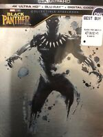 Black Panther Blu-Ray Collectible Steelbook NEW IMPERFECTIONS