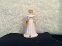 ENESCO Growing Up Birthday Girl Figurine Age 13 Blond Hair with Tag