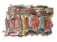 50 Set Oasis Art Silk Rayon Stranded Embroidery Skeins Threads Variegated Skein