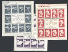 Brazil 1940 New york World Exposition Mi 3,4,5 Yt BF3,4,5 RHM B4,5,6 Sn 496a7a8a
