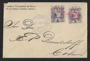 GUATEMALA SMALL NUMERAL '31' PANZOS TO COBAN COVER 1895