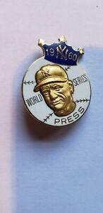 Original 1960 Balfour New York Yankees World Series Press Pin with clasp