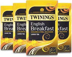 Twinings English Breakfast Loose Tea 125 g Pack of 4