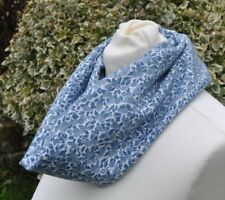 cowl/snood Scarf in vintage Liberty Jubilee, Berry blue and ivory
