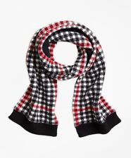 Brooks Brothers Girls Wool Blend Windowpane Scarf