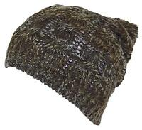 D&Y Adult Variegated Cable Knit Winter Beanie Hat W/Pom Pom, Snow, #860 Olive