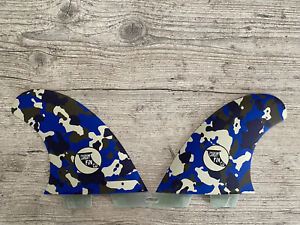 Cardiff Fin Company SR Front Quads Blue Camouflage- FCS2