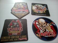 4 ROBINSONS ' TROOPER ' IRON  MAIDEN  BEER  MATS includes day of the dead new