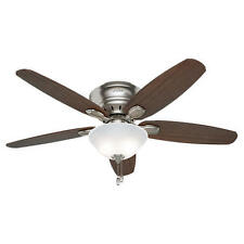 "52"" Brushed Nickel LED Light Indoor Ceiling Fan with Light Kit"