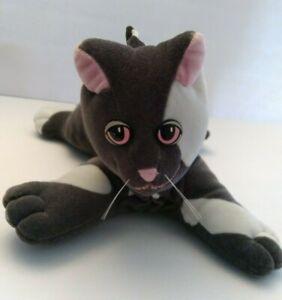 VINTAGE Tonka 1985 Pound Puppies Purries Gray & White Kitty Cat Plush Pink Eyes