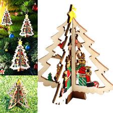 Pallina decorazione casa albero Natale vero legno 3D ornamento renne natalizie