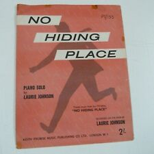 piano solo NO HIDING PLACE Laurie Johnson