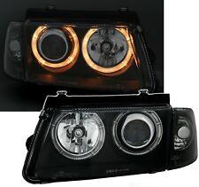 DEPO Lighting Angel Eyes Scheinwerfer Set Schwarz für VW PASSAT 3B 10/96-