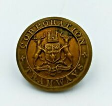 VINTAGE CORPORATION TRAMWAYS UNIFORM BUTTON MADE BY DOWLER 24MM